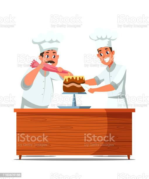 Cakes Making Process Flat Vector Illustration Stock Illustration - Download Image Now