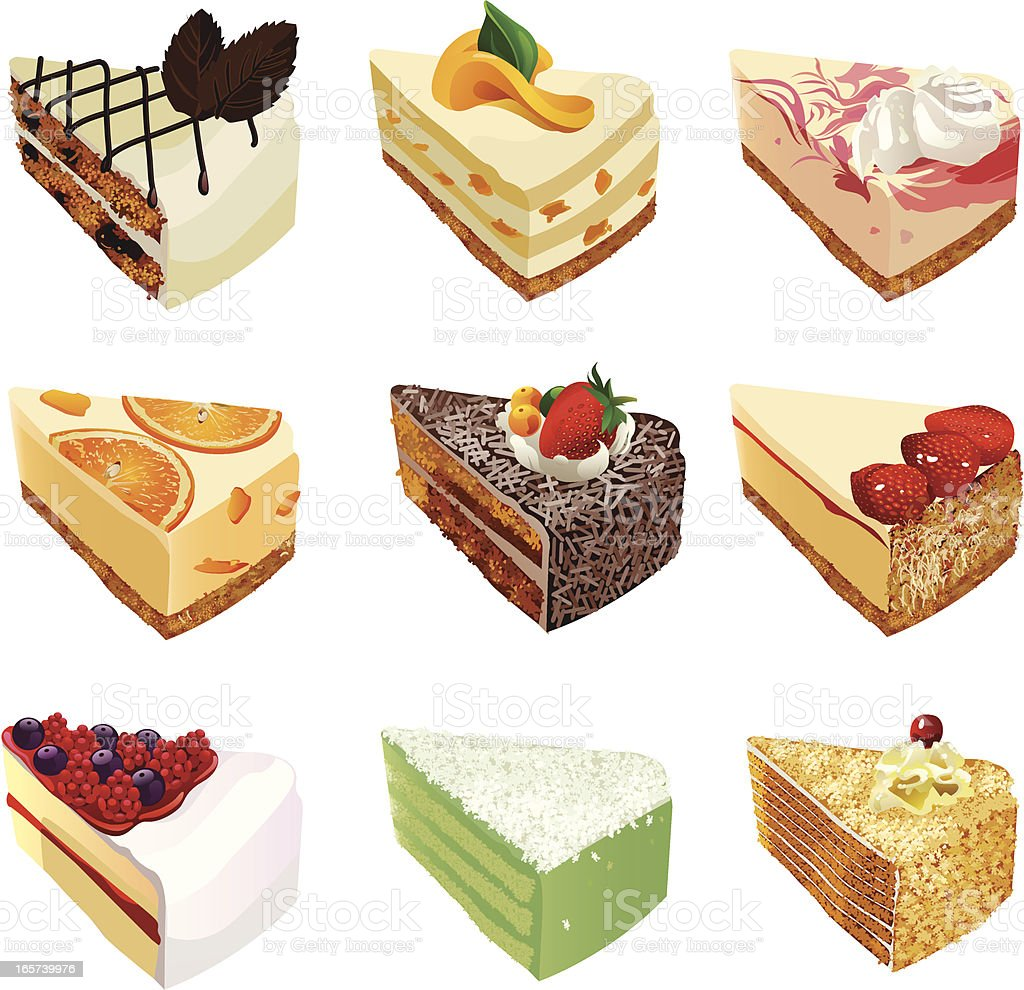 Cakes vector art illustration