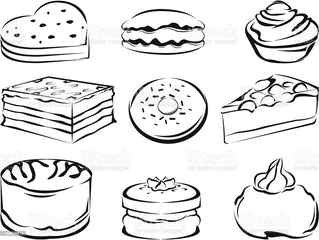 Kuchen Lizenzfreies Kuchen Stock Vektor Art Und Mehr Bilder Von Backen