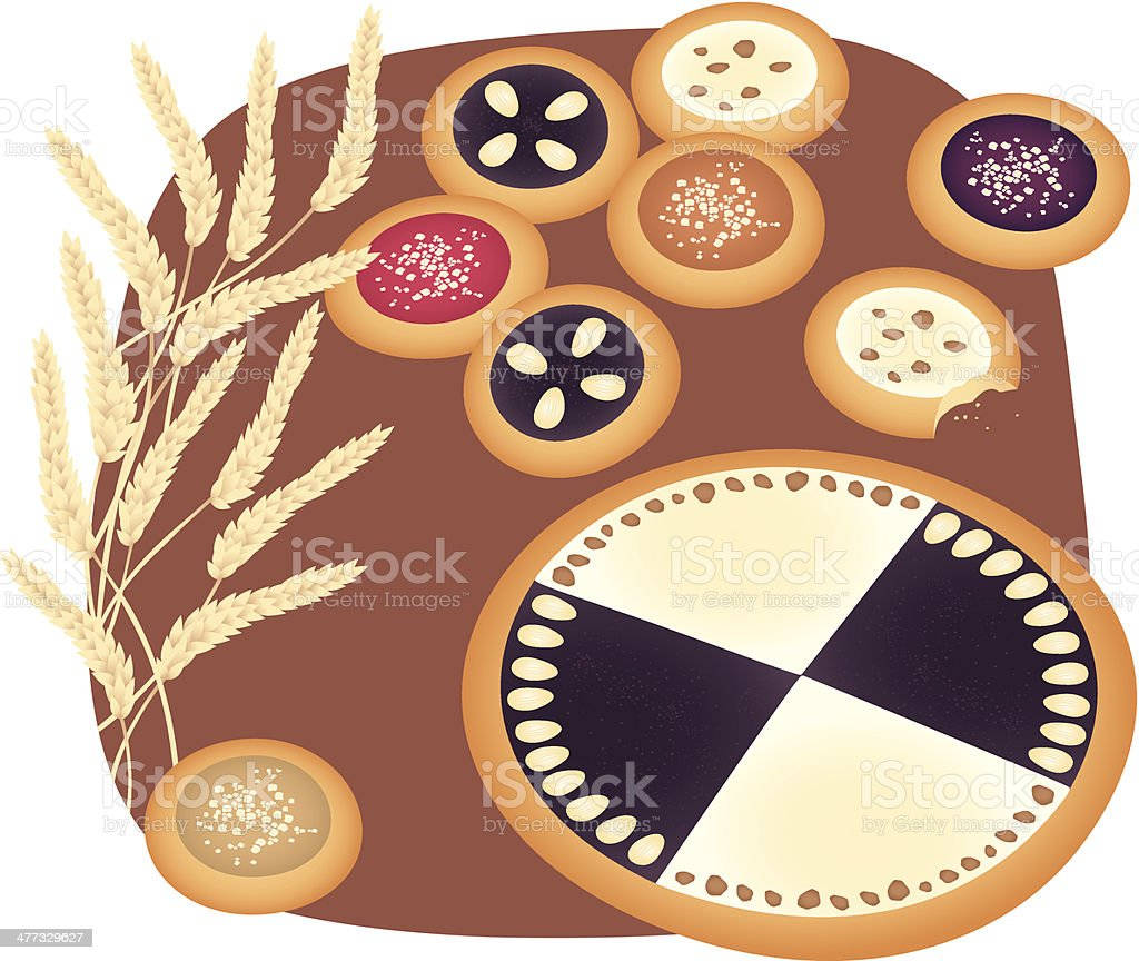Cakes royalty-free cakes stock vector art & more images of almond