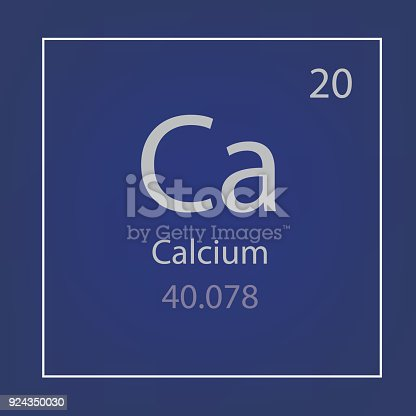 Calcium Ca Chemical Element Icon Stock Vector Art More Images Of