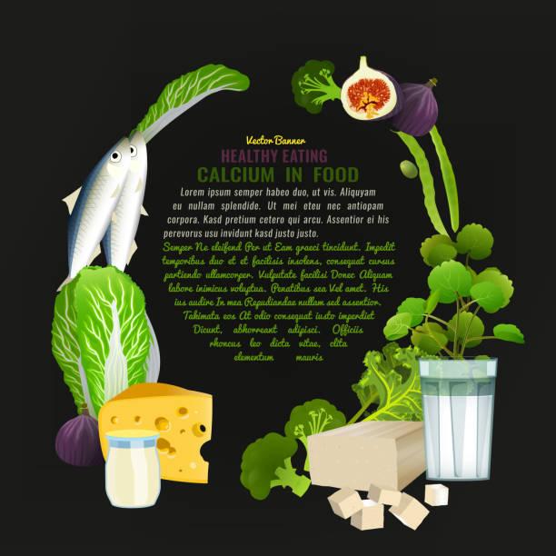calcium essen vorlage - feigensalat stock-grafiken, -clipart, -cartoons und -symbole