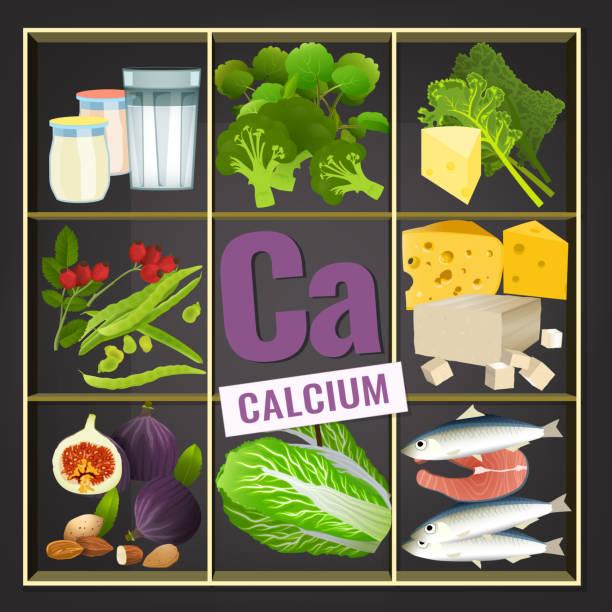 kalzium in der nahrung bild - feigensalat stock-grafiken, -clipart, -cartoons und -symbole
