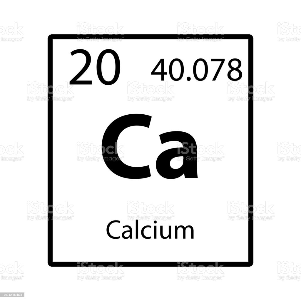 Calcium Periodic Table Element Icon Stock Vector Art More Images