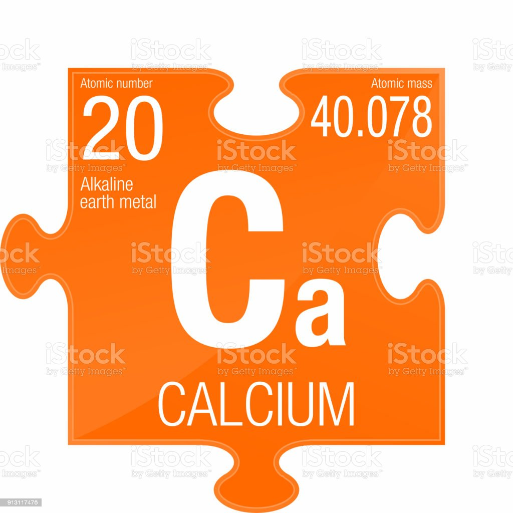 Calcium Symbol Element Number 20 Of The Periodic Table Of The