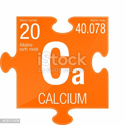 Calcium Symbol Element Number 20 Of The Periodic Table Of The