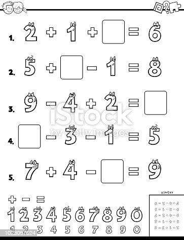 Ilustración de Libro Educativo De Cálculo Para Niños y más
