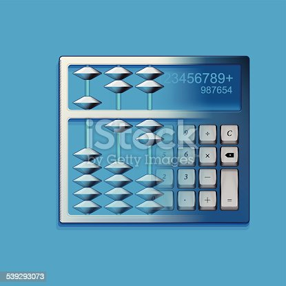 Calculator and Chinese abacus icons, this file is eps10.0 file, it contains some transparent effects.
