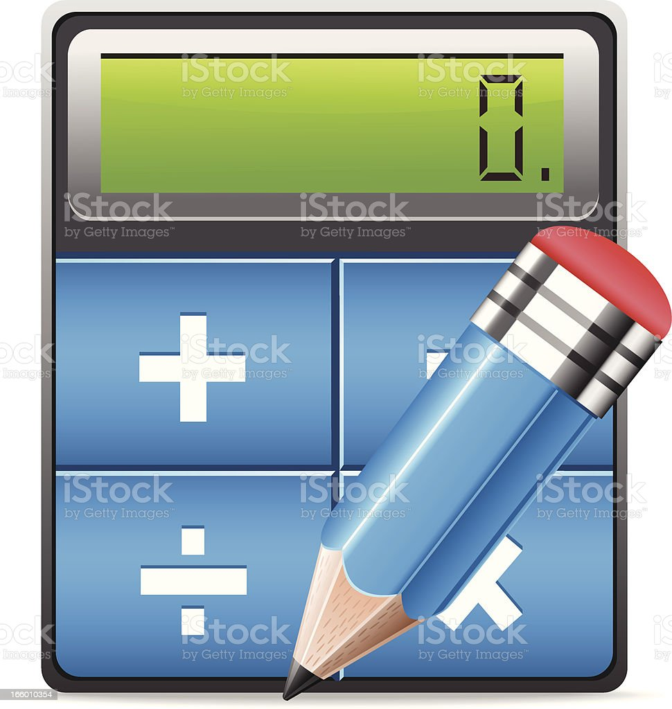 Calculator and Pencil royalty-free calculator and pencil stock vector art & more images of balance