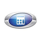 Calculator Blue Vector Icon Button