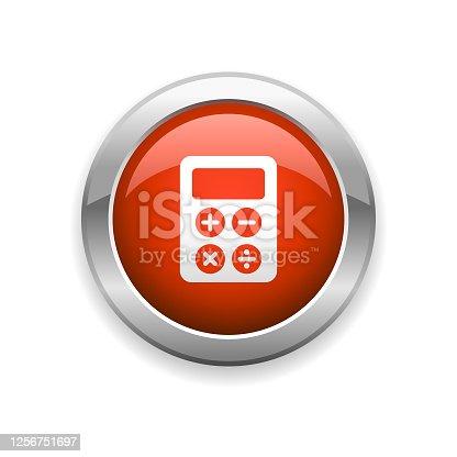 istock Calculator Business Glossy Icon 1256751697