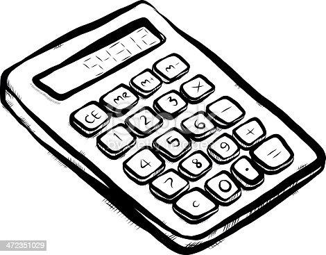 Calculator Cartoon Stock Vector Art & More Images of Art