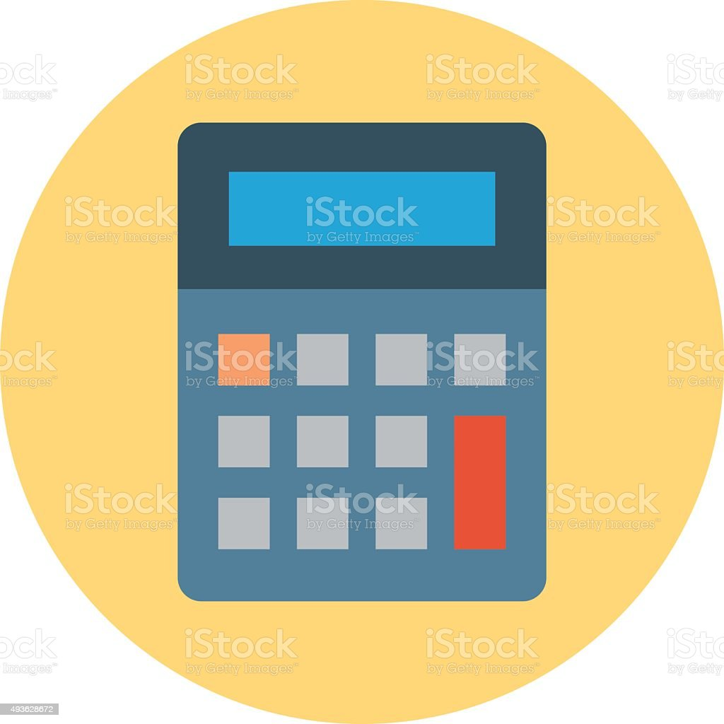 Calculator Colored Vector Icon vector art illustration