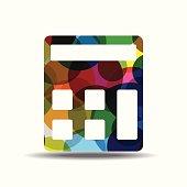 Calculator Colorful Vector Icon Design