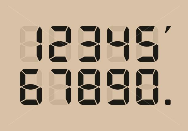Calculator digital numbers. vector art illustration