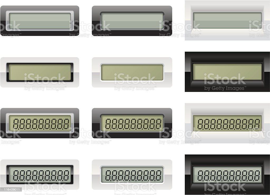 LCD Calculator Displays royalty-free lcd calculator displays stock vector art & more images of banking