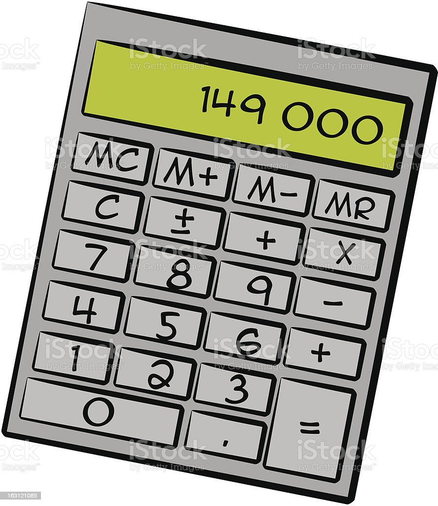 calculator [ finance / budget ] royalty-free stock vector art