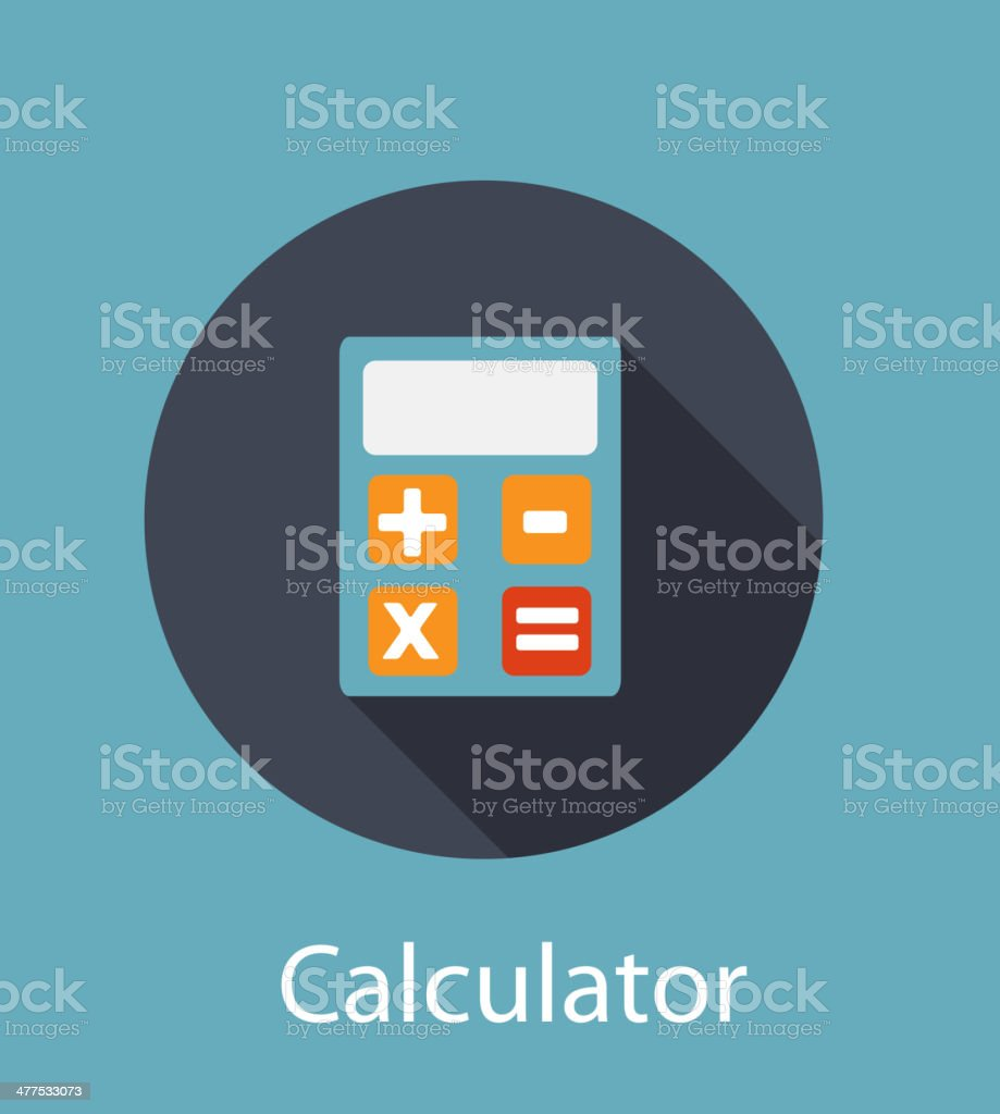 Calculator Flat Concept Icon Vector Illustration vector art illustration