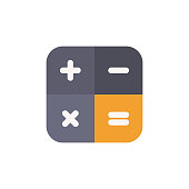Calculator Flat Icon. Pixel Perfect. For Mobile and Web.
