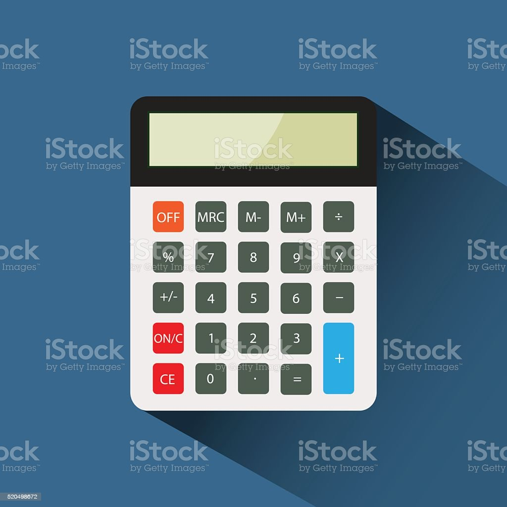 calculator flat icon vector illustration eps 10 vector art illustration