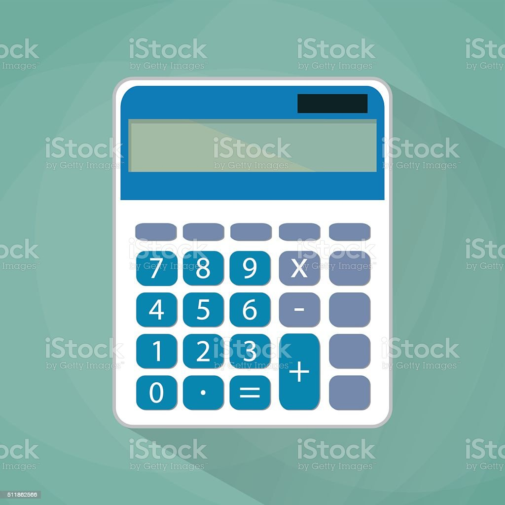 Calculator flat illustration. vector art illustration