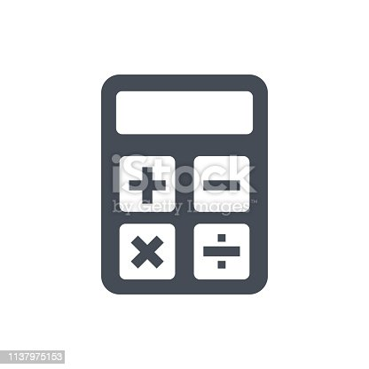 Calculator icon. Accounting sign. Calculate finance symbol - stock vector