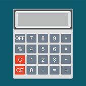 Calculator icon and vector