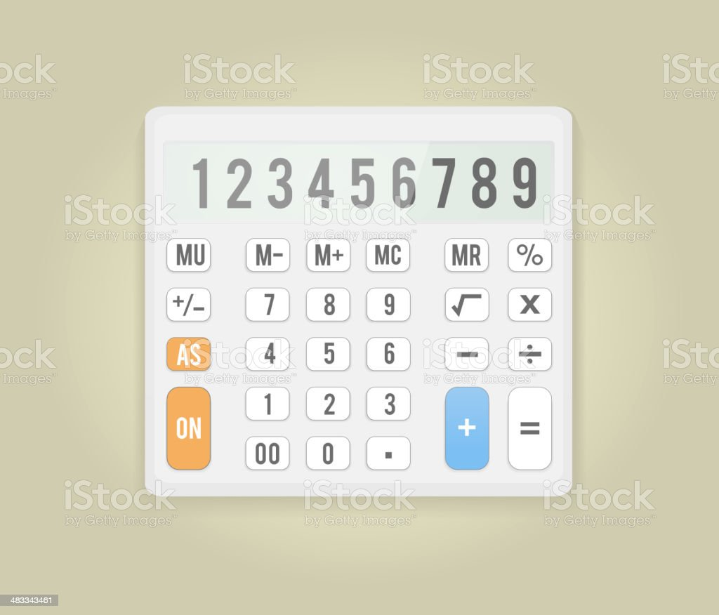 Calculator Icon Business Concept With Mathematics Stock Vector Art