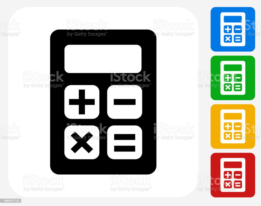 Calculator Icon Flat Graphic Design vector art illustration