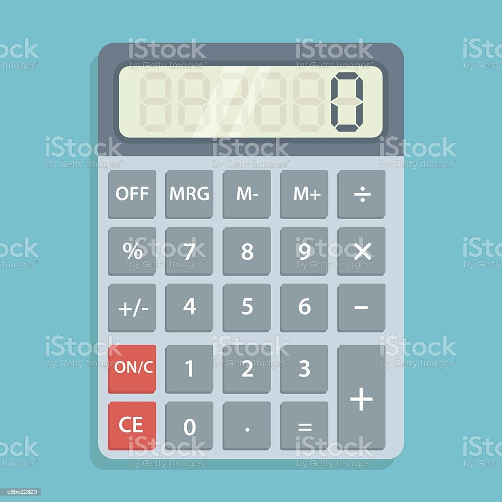 Calculator icon flat illustration vector art illustration