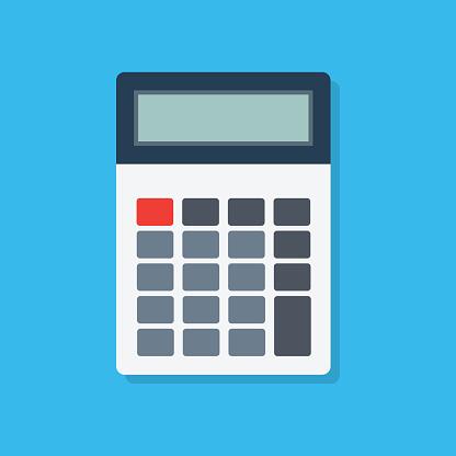 Calculator icon flat style. Vector eps10