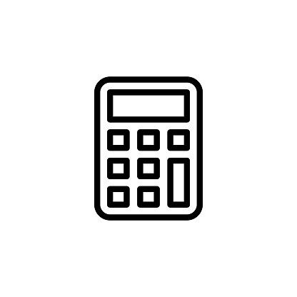 Calculator icon in vector. Logotype