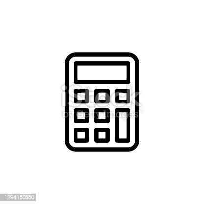 Calculator icon in vector. Logotype