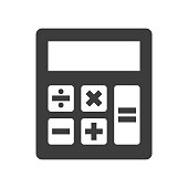Calculator icon on white background. Vector Illustration
