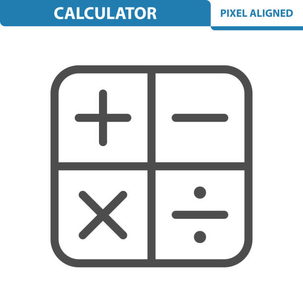 rechnersymbol - matheunterricht stock-grafiken, -clipart, -cartoons und -symbole
