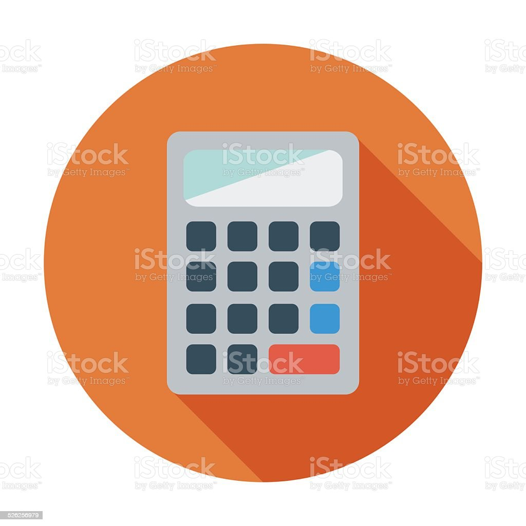 Calculator icon. vector art illustration