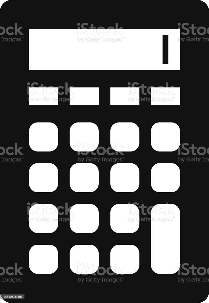 Calculator icon vector art illustration