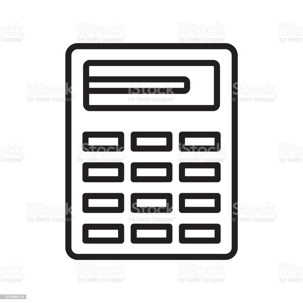 Calculator Icon Vector Sign And Symbol Isolated On White Background  Calculator Logo Concept Stock Illustration - Download Image Now