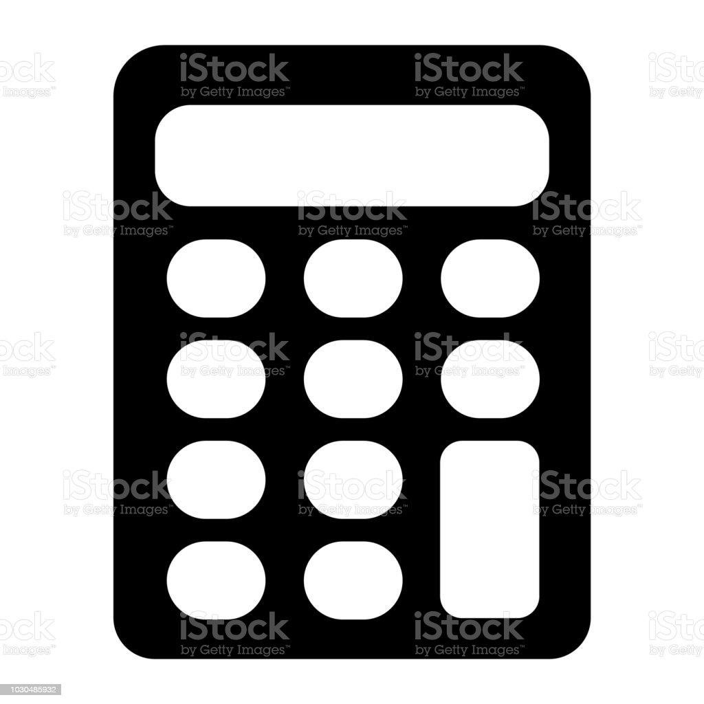 Rechner Icon Vector Zeichen Und Symbol Isoliert Auf Weißem
