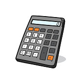 Calculator illustration on a white background