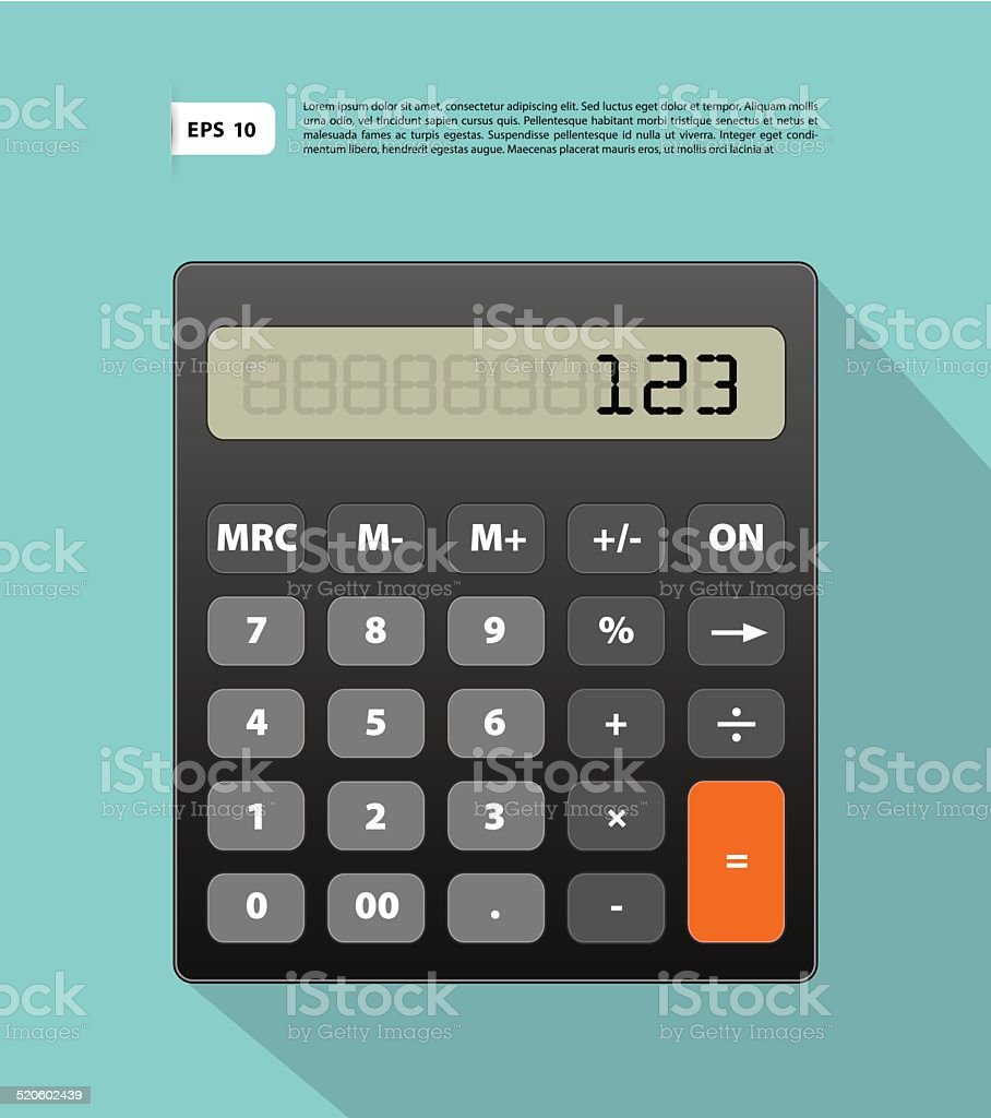 Calculator Image Stock Vector Art & More Images of Algebra 520602439 ...
