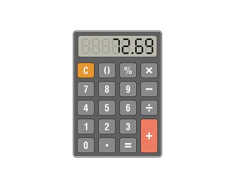 Colored calculator vector illustration