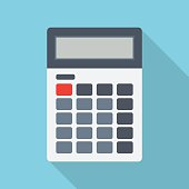 istock Calculator isolated on a colored background 544462430