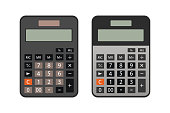 calculator isolated on white background illustration vector,2 different color