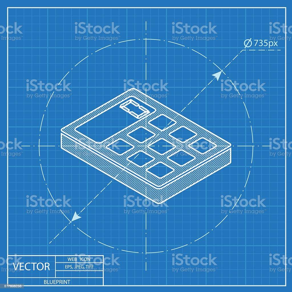 Calculator isometric 3d blueprint icon stock vector art more calculator isometric 3d blueprint icon royalty free calculator isometric 3d blueprint icon stock vector art malvernweather Images