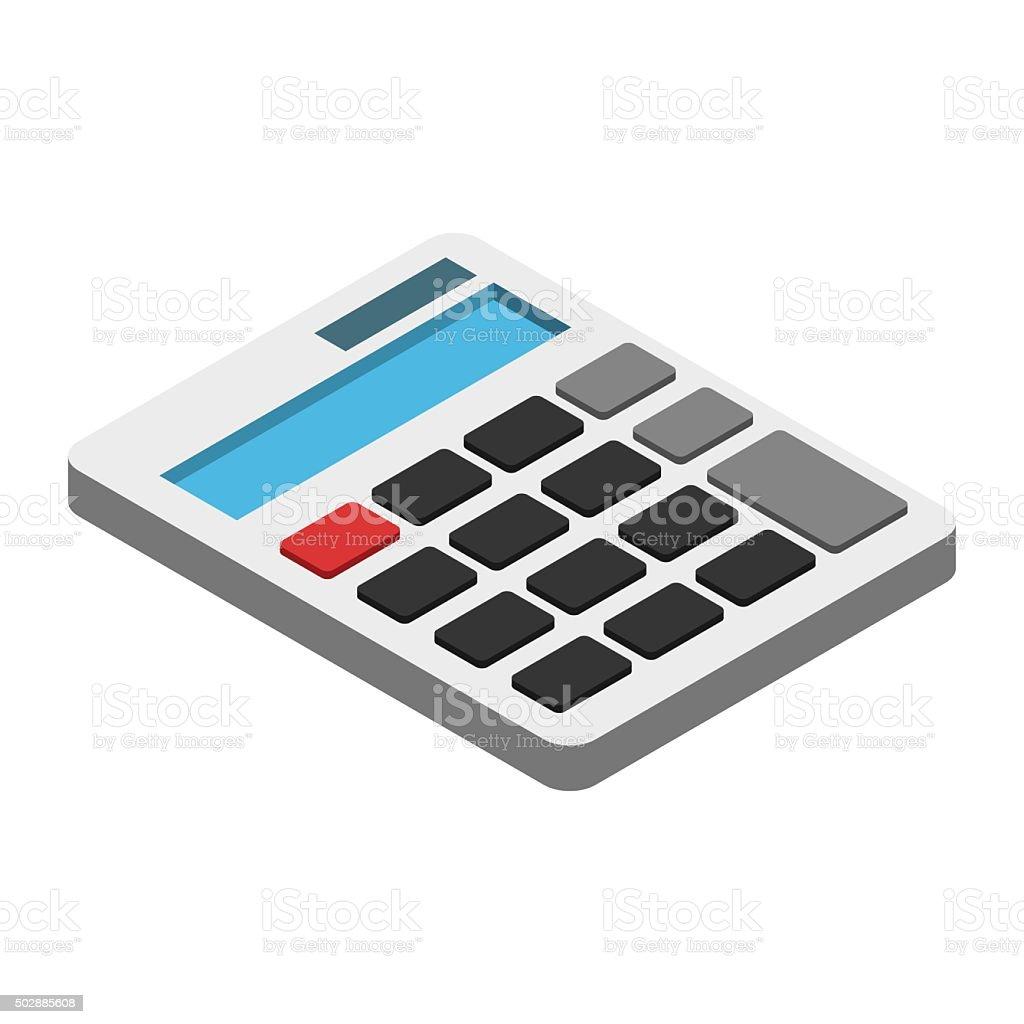 Calculator isometric 3d icon vector art illustration