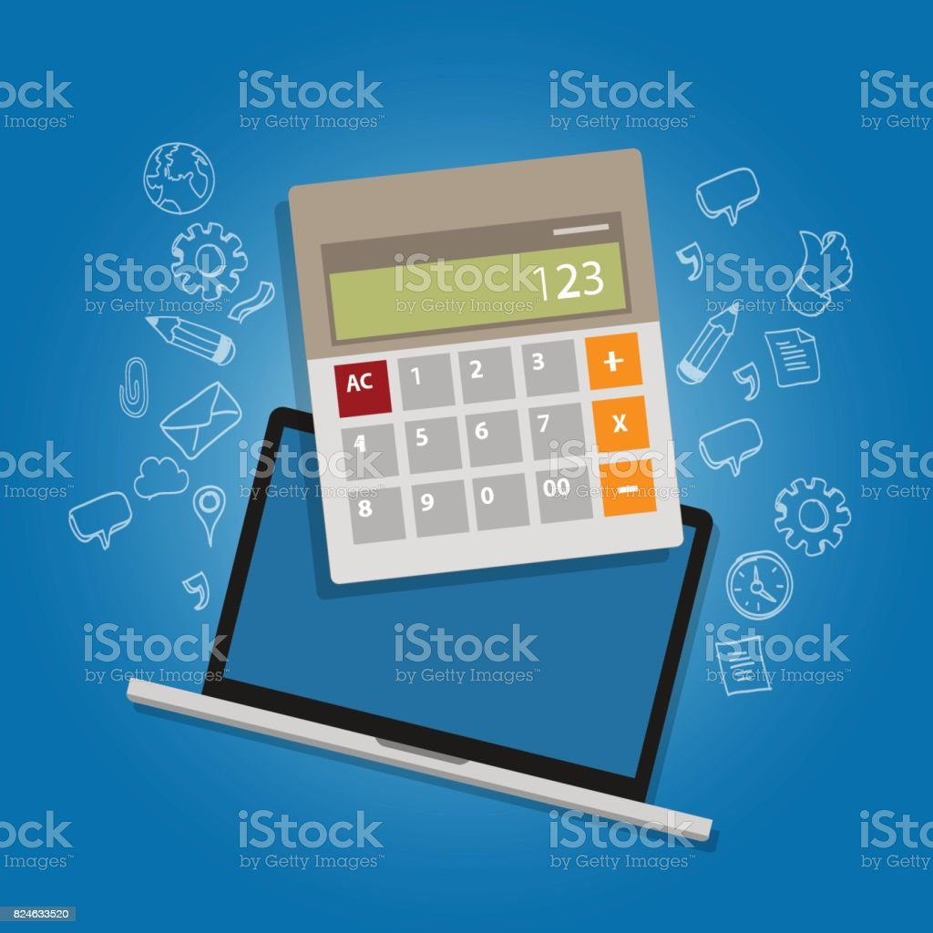 calculator laptop note book online accounting analysis counting cost