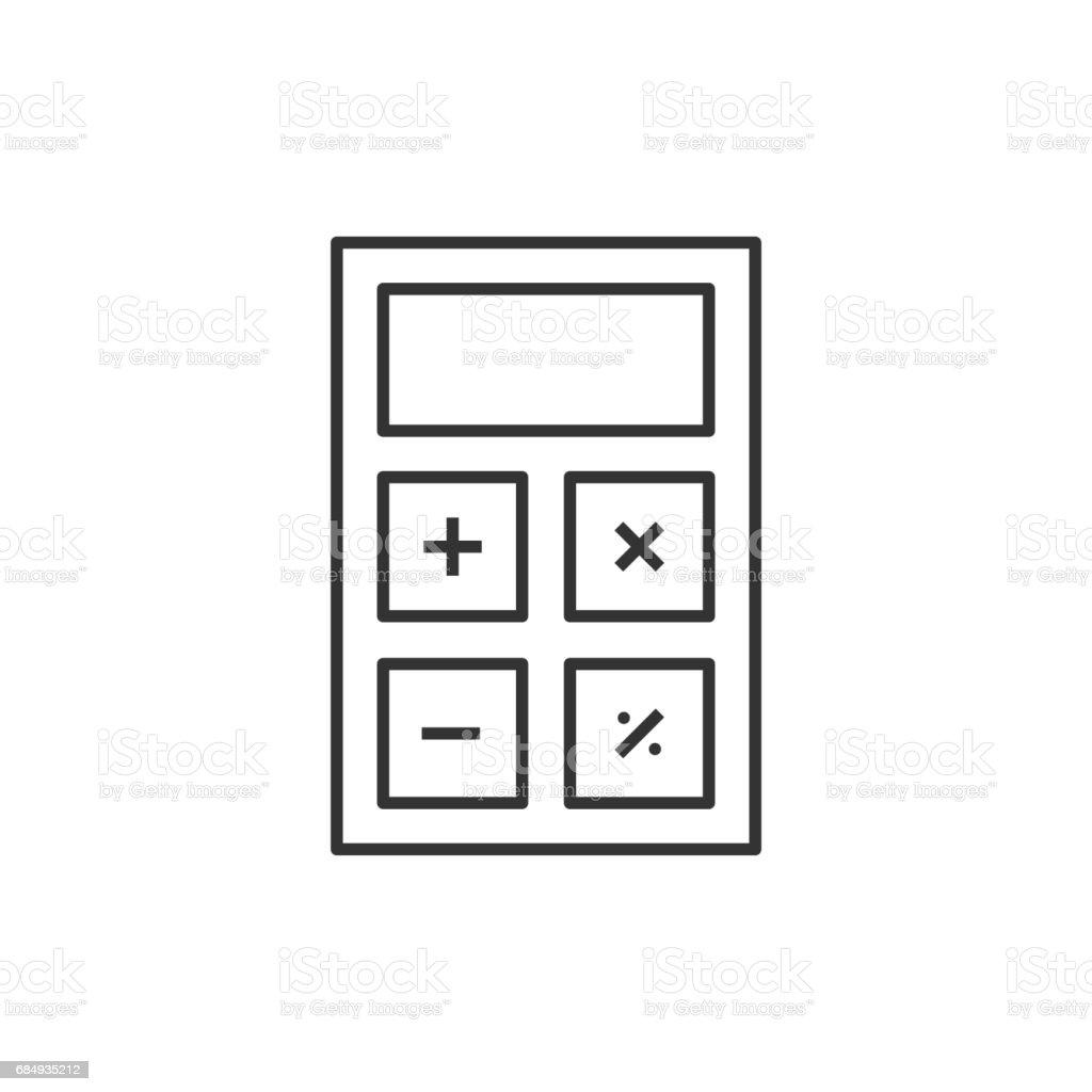 Honorarberechnung Linie-icon Lizenzfreies honorarberechnung linieicon stock vektor art und mehr bilder von design
