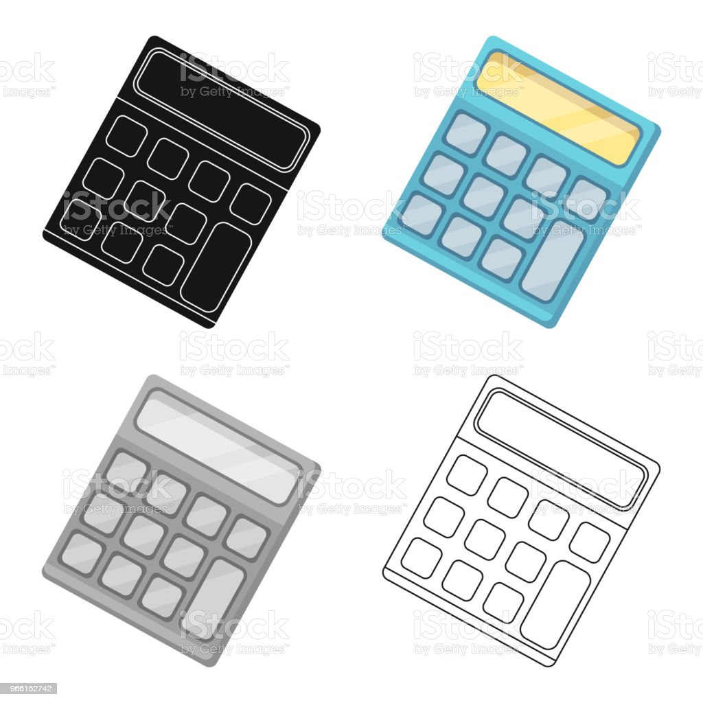 Calculator. Machine to quickly count data. Math .School And Education single icon in cartoon style vector symbol stock web illustration. Calculator. Machine to quickly count data. Math .School And Education single icon in cartoon style vector symbol stock illustration. Accountancy stock vector