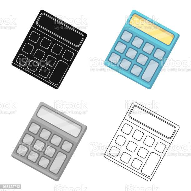 Calculator Machine To Quickly Count Data Math School And Education Single Icon In Cartoon Style Vector Symbol Stock Web Illustration Stock Illustration - Download Image Now
